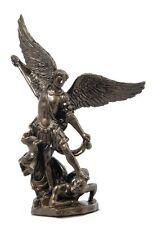 Angel Statue St Saint Michael Slaying Devil Satan Miniature Figure #WU75579AP
