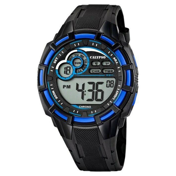 Calypso Digital correa de caucho K5625/2 diámetro 45 mm alarma y fecha