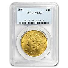 $20 Gold Liberty Double Eagle Coin - Random Year - MS-63 PCGS - SKU #7227
