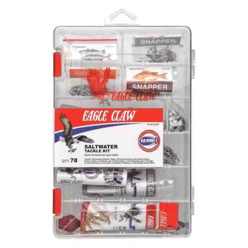 78 Pieces Southern Coast  #TK-SCOAST Eagle Claw Saltwater Tackle Kit