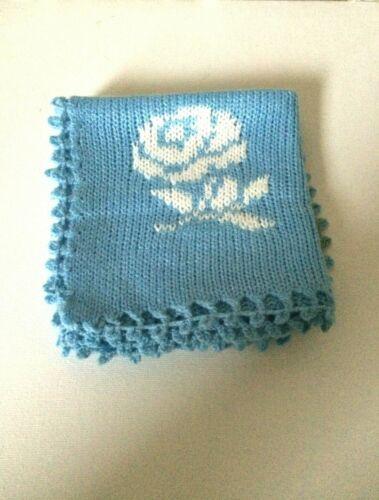 Washcloth Blue Machine Knitted Dishcloth