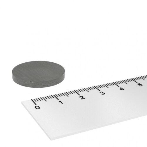 10x FERRIT SCHEIBENMAGNET 25 x 3 mm HOCHTEMPERATUR MAGNET BIS 250°C
