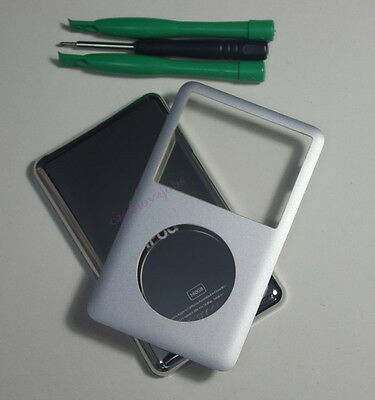 Silver iPod classic 6th 160GB back cover + front case kit (Thick back)