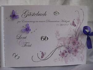Gastebuch Diamantene Hochzeit Diamanten Geschenk Deko Geschenkidee Tischdeko Ebay