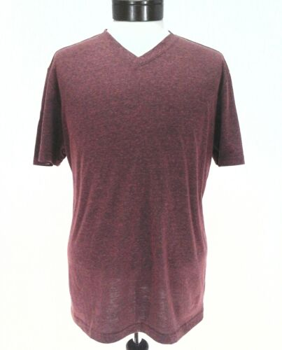 American Rag Men/'s Casual V-neck T-Shirt Tee Weathered Red Large XL XXL New