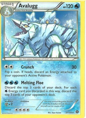 Pokemon Card XY Steam Siege Avalugg 37//114 Rare