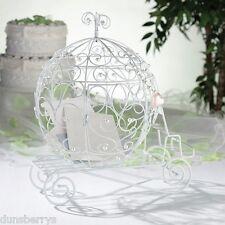 Fairy Tale Cinderella/Princess Coach/White Beaded Wedding Card Post Box/Holder