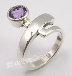 925-Sterling-Silver-Unseen-CUT-PURPLE-AMETHYST-BESTSELLER-STYLISH-Ring-Any-Size