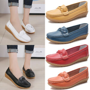 Women-039-s-Flats-Loafers-Sneakers-Casual-Round-Toe-Leather-Moccasins-Driving-Shoes