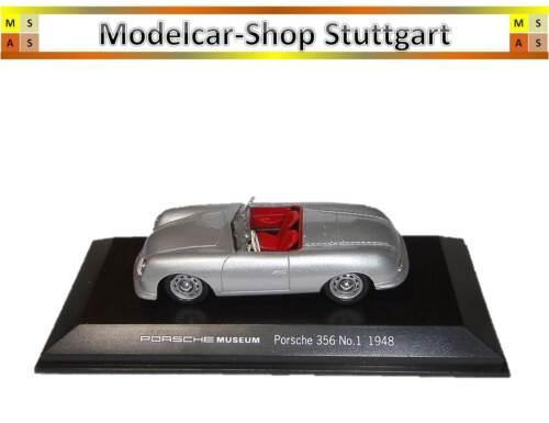 MAP01935613 Museum Edition Welly 1:43 Porsche 356 No.1 1948 silber neu