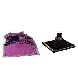 2Pieces Retro Altar Tarot Card Table Cloth Wicca Velvet Drawstring Pouch