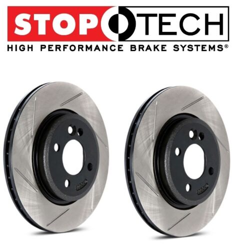 StopTech Set Rear Left Right Slotted Brake Rotors for Nissan 370Z Infiniti G37