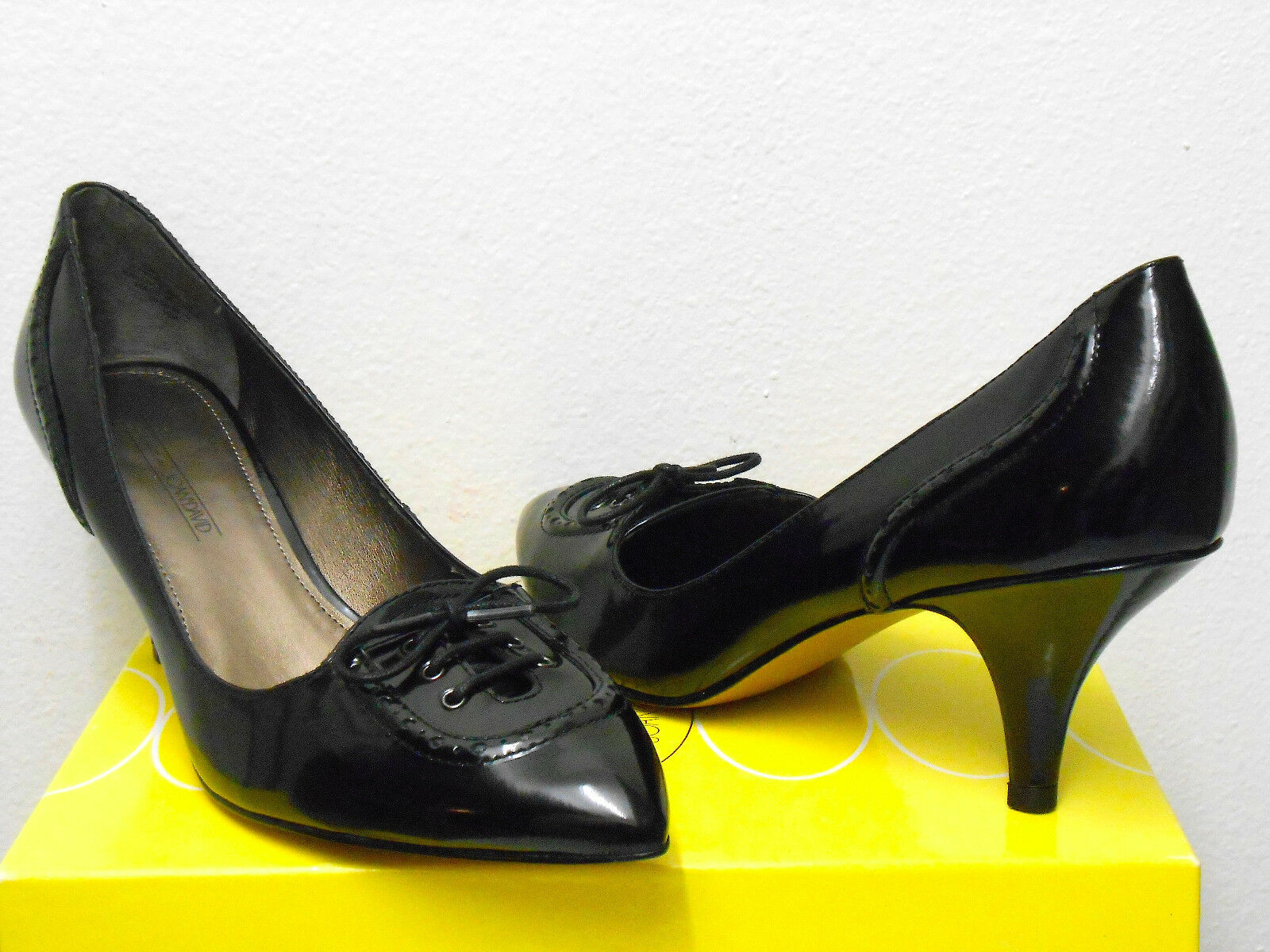 CIRCA JOAN & DAVID (AUSTERO schwarz LEATHER PUMP) damen Größe 6.5 BRAND NEW