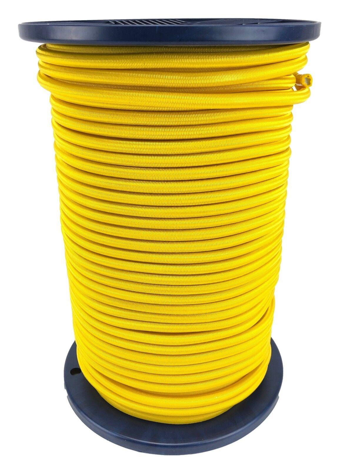 12mm Gelb Elastischer Gummizug Seil Gummiseil Festbinden UV Stabil