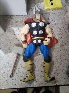 "Marvel Legends : Icons *Thor*(w/ hammer),  12"" Action Figure, ToyBiz *Loose*"