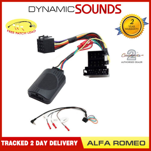 DS-AR001.2 adaptador de control del volante de tallo para Alfa Romeo 147 156 GT