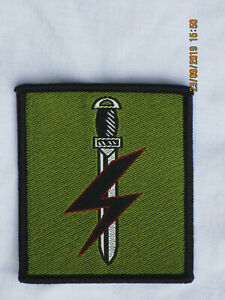 Special Forces Support Group , SFSG,TRF, Patch, Abzeichen farbig auf oliv