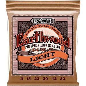 Ernie-Ball-Earthwood-Light-Guitar-Strings-Sizes-11-to-52-Free-Shipping-2148