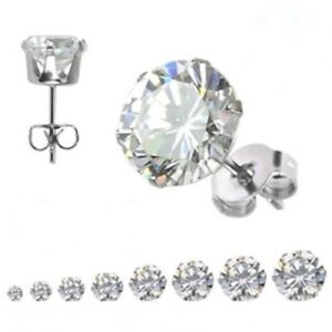Hypoallergenic-Stud-Earrings-Select-from-8-Sizes-Stainless-Surgical-Steel