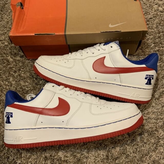 Nike Air Force 1 Low Philly White Varsity Red Sport Blue 2004 Sneakers Size 12