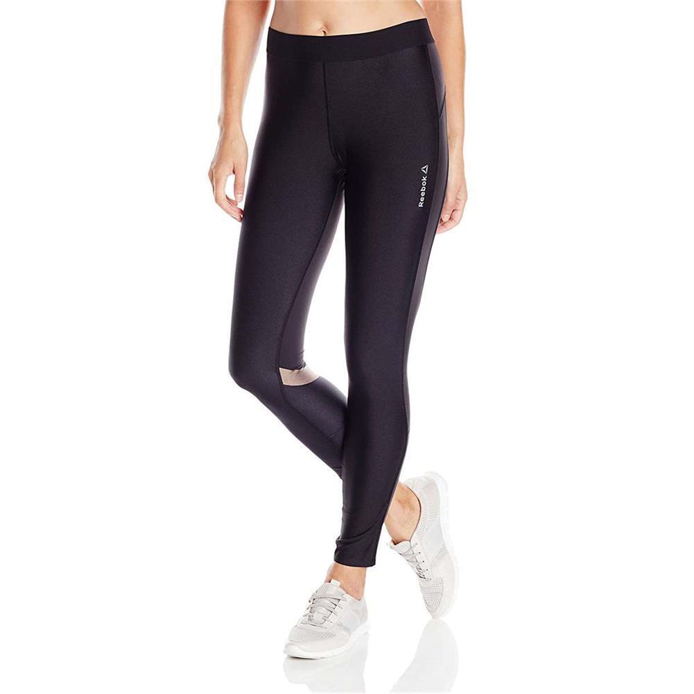 Reebok Women's Athletic Apparel Workout Cardio Tight Leggings Regular Fit Pants