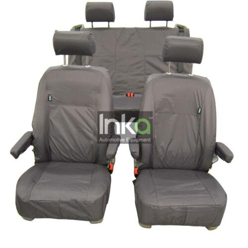 VW California Campervan T5 Inka Fully Tailored Waterproof Seat Covers Grey