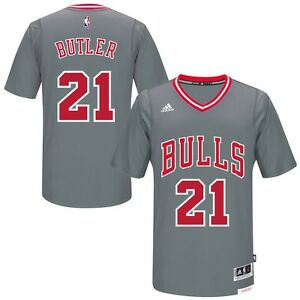 af436231 Chicago Bulls Jimmy Butler #21 Adidas Alternate Gray Pride Replica ...