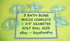 "Bath Bomb Molds 5 Pack Golf Ball Size 1 3/4"" Made in USA Fast Shipping in a BOX!"