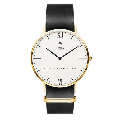 Reloj hombre/mujer TWIG CAMUS blanco piel clásico vintage