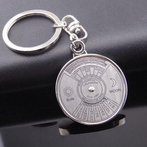 Mode Metall Schlüsselanhänger 50 Jahre Perpetual Calendar Schlüsselring