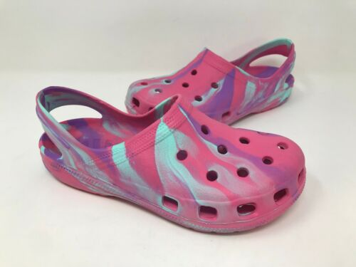 Girls Toddler Athletech 11503 Cougar Clogs Purple//Pink//Aqua D37 New