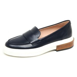 8c193b5523 F3256 mocassino donna dark blue TOD'S scarpe loafer shoe woman | eBay