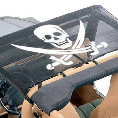 For Jeep Wrangler 87-91 VDP Koolbreez Pirate Jolly Roger Brief Nylon Mesh Top