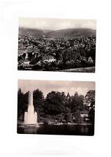 2 Ak Aue, Ortsansicht und  Stadtgarten, gelaufen ab 1963 (17i)