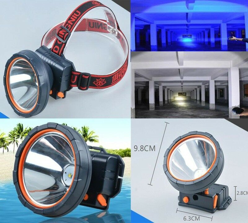 2x Super Bright  LED Headlamp Rechargeable Headlight 1200 Lumens for Hunting Camp  unique shape
