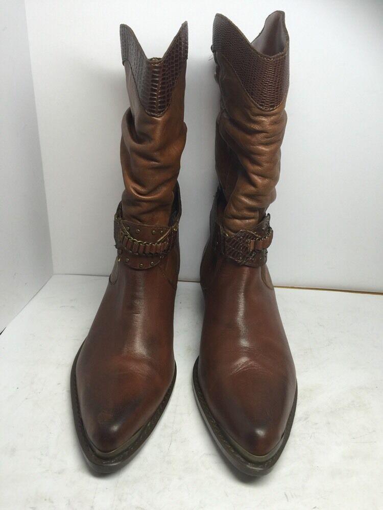 costo effettivo Donna  MOBILITY Western Style Marrone Marrone Marrone leather mid-calf stivali US Dimensione 7  Garanzia del prezzo al 100%
