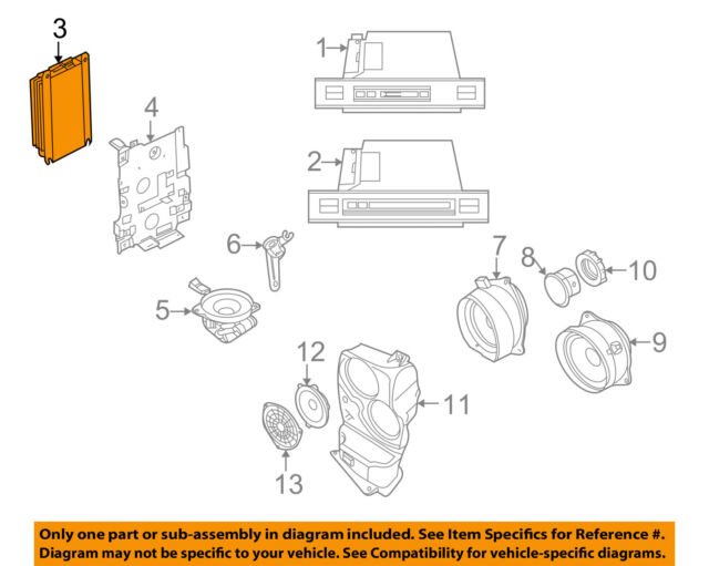 2005 BMW X5 Lear Rear Amplifier Amp DSP 65126940977 531094804 New Philips Radio Amp Wiring Diagram E on