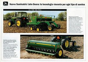 PUBBLICITA-039-WERBUNG-034-JOHN-DEERE-NUOVE-SEMINATRICI-LA-452-LA-752-NO-TILL-034