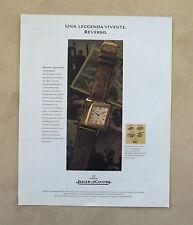 E628 - Advertising Pubblicità -1995- JAEGER LE COULTRE OROLOGIO REVERSO