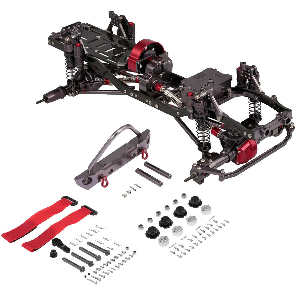 TELAIO  in tuttiuminio RC Auto Corpo Telaio Kit per AXIAL SCX10 1 10 RC CRAWLER fai da te  spedizione veloce in tutto il mondo