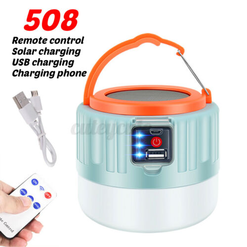 Solar Lights Emergency Lamp Tent LED Portable Lantern For Outdoor Camping Hiking