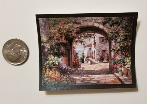 Miniature Dollhouse 1//12 Scale poster Pictures Wall Art  Kitchen Italy Arch