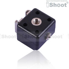 iShoot Dual-Hot Shoe Mount Adapter Flash Trigger for Canon Nikon Metz Olympus