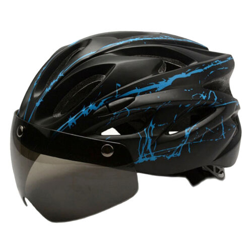 Cycling Helmet with Removable Goggles Visor Bike Safety Hat Magnetic Sunglasses