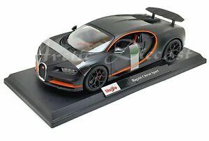 Maisto-1-18-Edicion-Especial-2020-Negro-plano-Bugatti-Chiron-Sport-Exclusivo