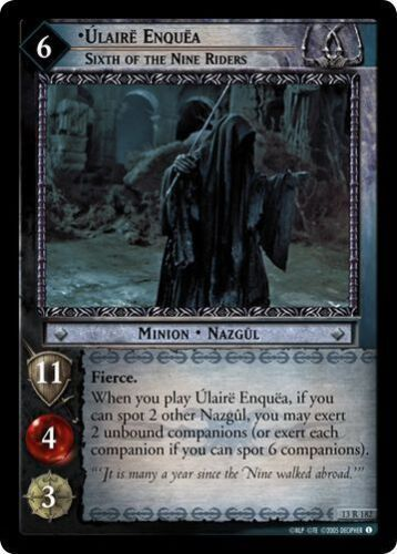 LOTR TCG Bloodlines Ulaire Enquea Sixth of the Nine Riders 13R182