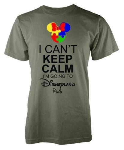 L/'autisme MINNIE je ne peut pas garder son calme je vais à Disneyland Paris Adulte T Shirt