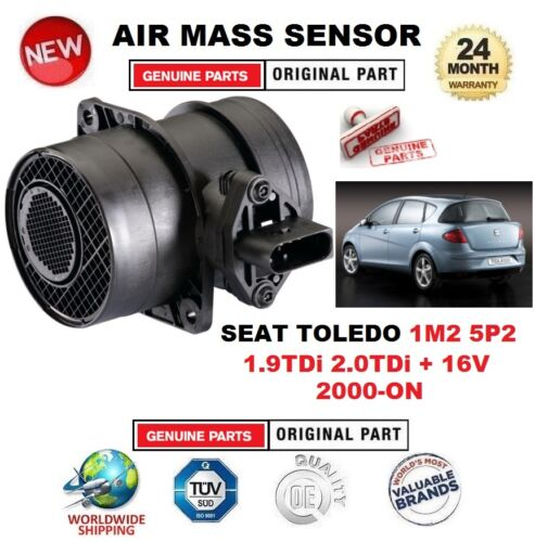 FOR SEAT TOLEDO 1.9TDi 2.0TDi + 16V 2000ON AIR MASS SENSOR 5 PIN with HOUSING