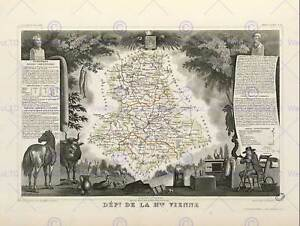 MAP-OLD-ILLUSTRATED-FRANCE-LEVASSEUR-HAUTE-VIENNE-POSTER-ART-PRINT-BB12042B