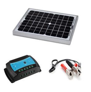 Kit panneau solaire 10W 12V avec régulateur de charge pour site isolé (10 watts)
